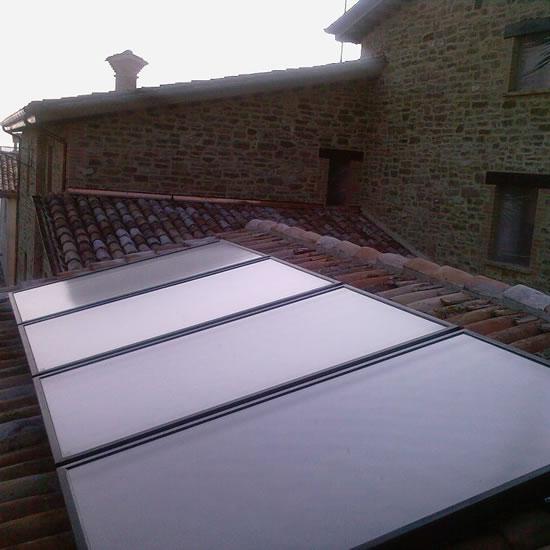 Sonde geotermiche ed impianto solare