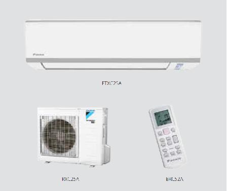 Climatizzatore in pompa di calore inverter R32 Daikin 9000/12000 btu